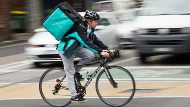 Start-up service Deliveroo.