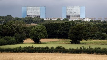 Hinkley Point A Magnox nuclear power station in Somerset, England.