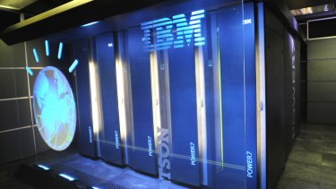 The IBM computer system known as Watson at IBM's T.J. Watson research centre in Yorktown Heights, New York.