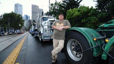 Fifth-generation logger Brett Robin with his truck.