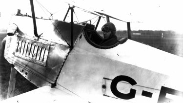 Bert Hinkler during the first flight from England to Australia.