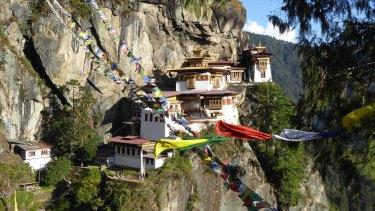 The Taktsang Monastery in Bhutan.