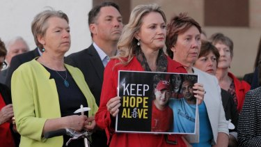 Labor MP Melissa Parke during the candlelight vigil for Andrew Chan and Myuran Sukumaran.