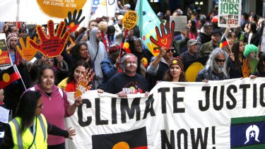The rally is one of hundreds being held around the world in the lead up to the United Nations climate change conference in Paris next week.