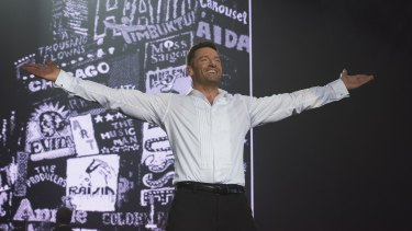 Hugh Jackman finds good rapport with his audience in Broadway to Oz.