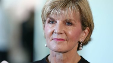 Island confusion: Foreign Affairs Minister Julie Bishop.