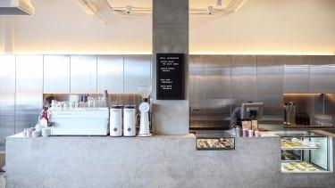 Inside Julien Moussi's cafe Penta.