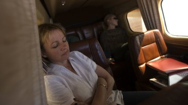 Ms Ley takes a break while touring her huge electorate.
