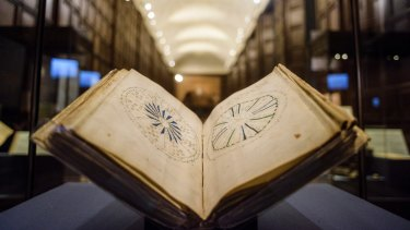 The pages of the Voynich manuscript are adorned with bizarre and colourful illustrations.