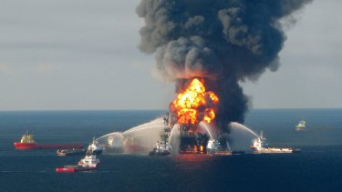 The Deepwater Horizon drilling rig blowout in April 2010 killed 11 workers and spilled vast amounts of oil into the Gulf of Mexico.