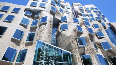 Frank Gehry's Dr Chau Chak Wing Building.