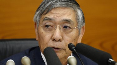 """Haruhiko Kuroda, governor of the Bank of Japan: The BoJ's statement said """"extreme measures"""" aimed at boosting inflation endanger financial stability and could do more harm than good."""