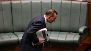 Prime Minister Tony Abbott during question time at Parliament House in Canberra on Thursday.