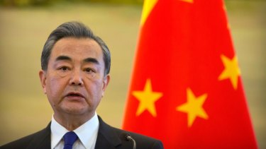 """Chinese Foreign Minister Wang Yi: China ready to work """"with all relevant countries""""."""