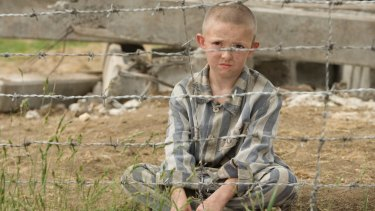 A scene from the film version of The Boy in Striped Pyjamas.