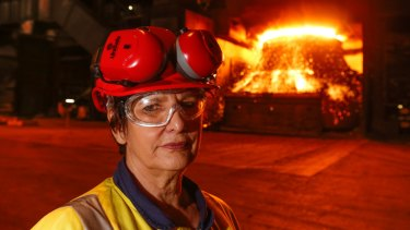 Contribution at Kembla: Christine Wilkins started work at Port Kembla in 1969. Now the steelworks is struggling to survive.