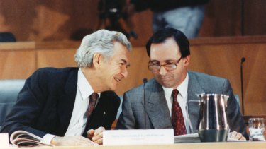The old Labor firm: Bob Hawke and Paul Keating in 1990.