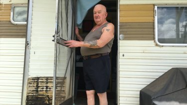 Jimmy Meade wants to stay put in his caravan.