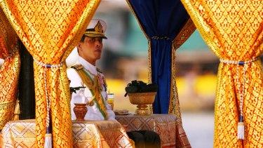 Thai Crown Prince Vajiralongkorn on the Royal Barge in 2007.