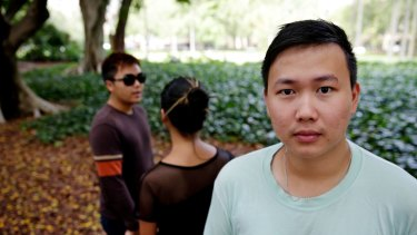 Paid below legal entitlements: Wan with other Malaysian students.