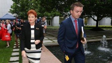 Senator Pauline Hanson and her increasingly powerful chief of staff James Ashby.