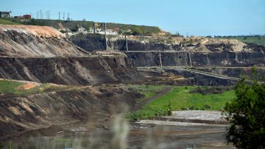 The Hazelwood coal mine in Morwell.