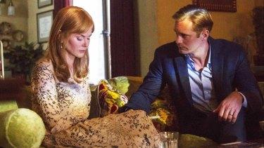 Nicole Kidman with her on-screen husband (Alexander Skarsgard) in Big Little Lies.