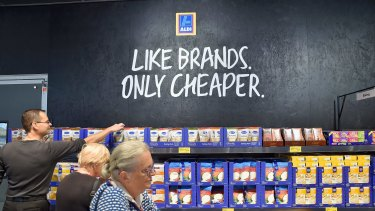 Aldi can make better profit margins by stocking  more private-label products and a smaller range overall.