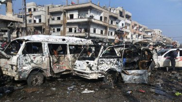 The aftermath of two blasts in the central Syrian city of Homs at the weekend. The conflict is not just highly complex and tragic; it has now also reached a very dangerous peak.