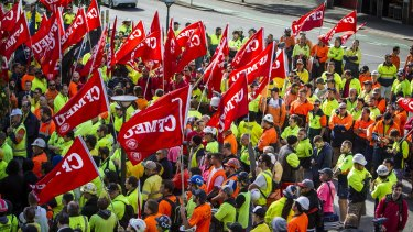 The ABCC laws are designed to target unions such as the CFMEU.