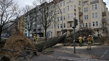 Niklas, one of the strongest storm fronts in years, hit Germany on Tuesday.