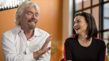 Richard Branson and Sheryl Sandberg appear on Bloomberg TV.
