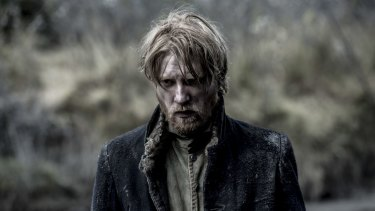 Epic production ... Domhnall Gleeson plays the captain of a group of fur trappers trying to flee from Arikara Indians in <i>The Revenant</i>.