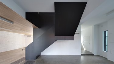 Subtle: Room 11 architects' clever redesign of a corner site showroom in Blackburn is attracting attention.