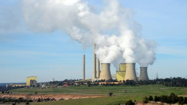 AGL's Loy Yang A power plant, the country's largest single emission plant.