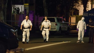 Bomb squad officers were among police who raided a terrace house in Surry Hills on Saturday night.