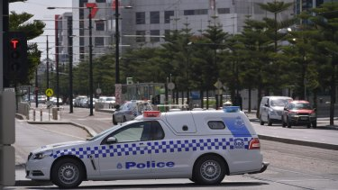 Hundreds of AFL staff have been evacuated after a phone threat on Thursday.