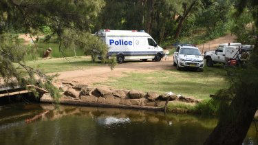 Police search a water hole in the Bents Basin Conservation Area after a 25-year-old went missing.