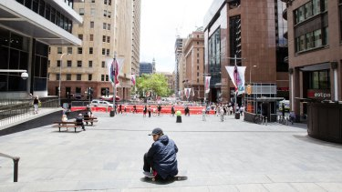 Ghost town: Martin Place in the days after the siege.