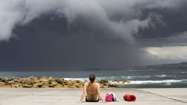 Storm clouds gather off Clovelly earlier this month - more to come this week.