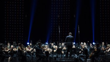 In the dark: The Sydney Symphony Orchestra.