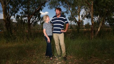 Peter Jurd, brother of sexual abuse victim Damien Jurd, with mother Claire in Tamworth, NSW.