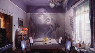 The dining room inside Rone's Omega Project.