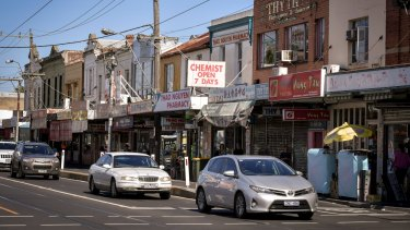 Shops along Victoria Street in north Richmond.