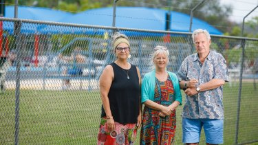 Maureen Searson, Coral Anderson and Peter Coggan do not want the 50 metre pool at Batemans Bay swimming centre to be removed.