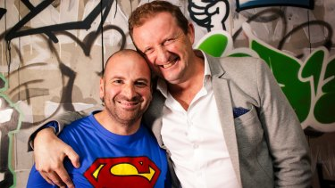 George Calombaris and Troy McDonagh, chief executive of Made Establishment Group