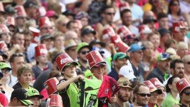 Record crowds: Big Bash League fans at the MCG.
