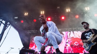 Anderson Paak & the Free Nationals on The Very West Stage during the Laneway Festival at Footscray.