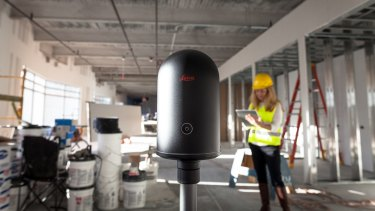 The Leica BLK360 can capture everything around it in 360 degrees and send it