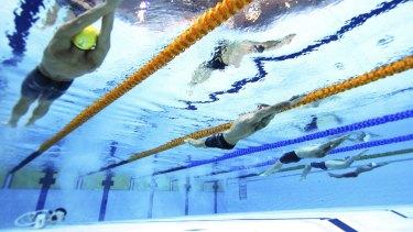 Deep trouble: the uneven pool floor in Glasgow.